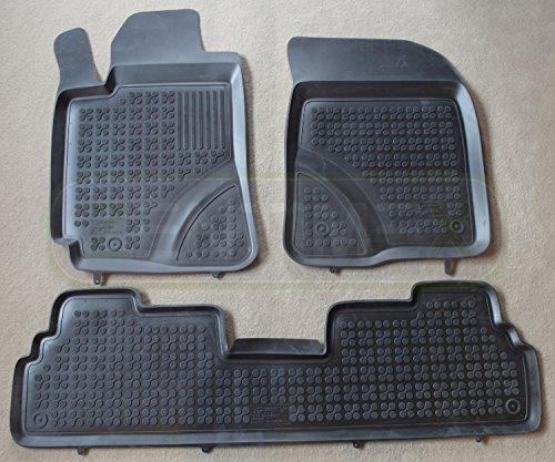 ZentimeX 4050319387510 Gummi-Fussmatten Schwarz