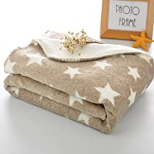 Brandonn Beige Star Polka Wrapping Sheet Cum Swaddle Baby Blanket For Babies( 75 Cm X 98 Cm)