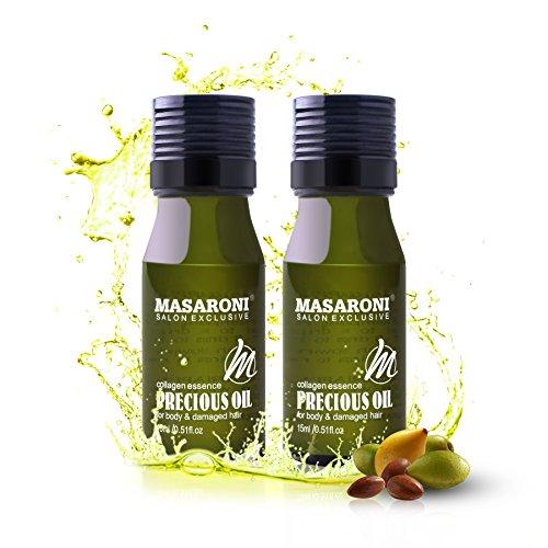 Masaroni huiles essentielles du Maroc à l'huile d'argan Cheveux quotidien Peau hydratant corps Traitement ongles 15 ml/15,1 ml