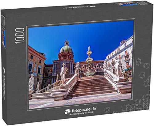 fotopuzzle.de Puzzle 1000 Teile Berühmter Schandfleck auf der barocken Piazza Pretoria, Palermo, Sizilien, Italien (1000, 200 oder 2000 Teile)