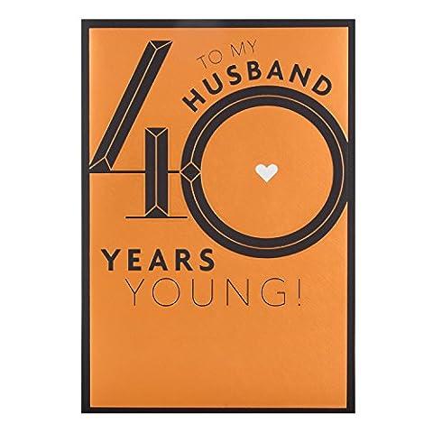 Hallmark Carte Mari carte d'anniversaire 40ans