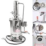 Distillateur standard électrique pour purifier l'eau en acier inoxydable 304 avec tuyau chauffant, 220 V, 3 L