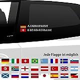 malango Fahrername und Beifahrername mit Flagge Länderflagge ALLE FLAGGEN ERHÄLTLICH