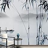 HUANGYAHUI murale Cinese Moderno Dipinto Di Inchiostro Carta Da Parati Di Bambù Grande Murale Pittura Paesaggio Il Soggiorno Tv Parete Di Sfondo Parete Di Carta