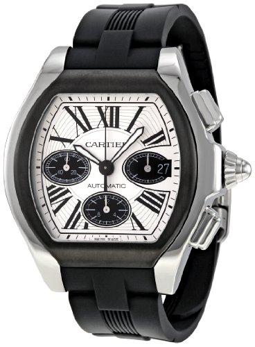 Cartier W6206020 - Reloj de pulsera hombre, caucho, color negro
