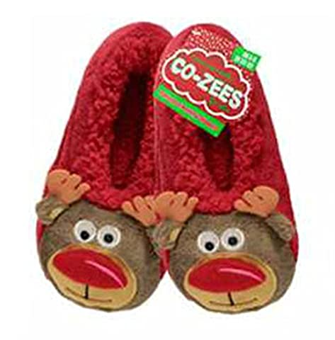 Cozee , Chaussons pour femme - - Reindeer Red,