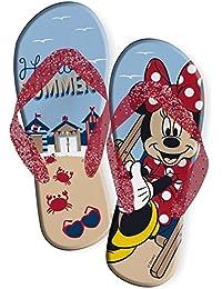 Minnie Topolina Disney - Chanclas de Caucho para Niña 26/27 EU