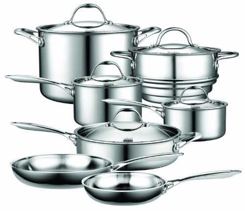 Cooks Standard Multi-Ply Clad Stainless-Steel 10-Piece