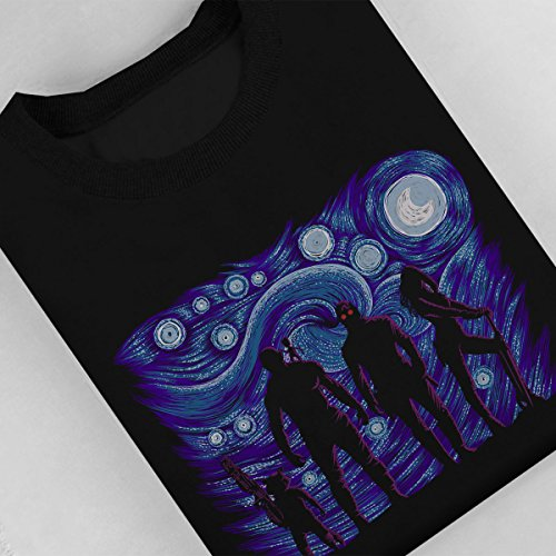 Starry Night Guardians Of The Galaxy Women's Sweatshirt Black