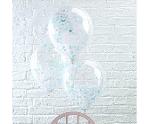Geburtstag Luftballon Konfetti 5 Stck. blau (Konfetti Gefüllte Ballons)