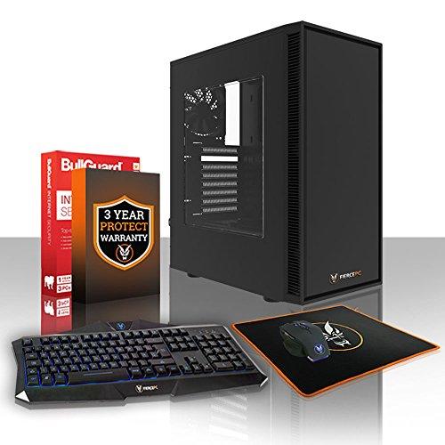 Fierce Apache Gaming PC Bundeln - Schnell 4.2GHz Quad-Core Intel Core i7 7700, 1TB Festplatte, 16GB 2400MHz, NVIDIA GeForce GTX 1050 2GB, Windows Nicht Enthalten, Tastatur Maus (VK/QWERTY) 449359