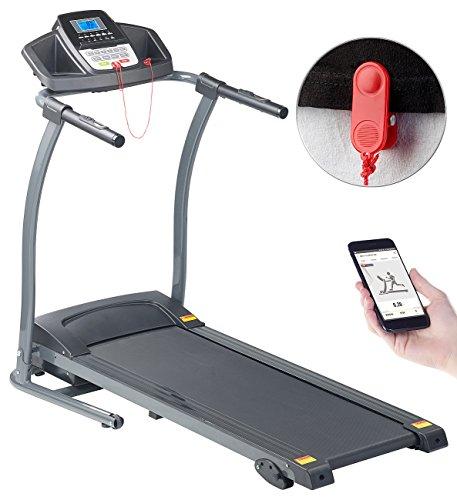 newgen medicals Elektrisches Laufband: Profi-Laufband mit App & Bluetooth, Pulsmesser, 12 Programme, 1.100 W (Laufband Fitness Stationen)