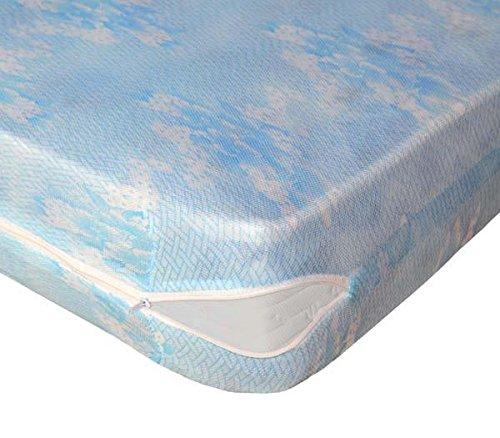 Lovely Casa RM24825001 Sieste - Protector de colchón (poliéster, estampado, 140 x 190 cm), color blanco