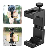 ULANZI Metal Phone Tripod Mount with Hot Shoe Mount Smartphone Video Rig Tripod