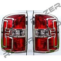 Razer Auto 2014-2016 GMC Sierra 1500, 2015-2016 GMC Sierra 2500/3500/HD Triple Chrome Plated Taillight Trim Bezel Cover 15 2015 16 2016 by Razer Auto - Sierra 2500 Hd