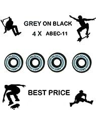 Velocidad Pro gris ABEC 11cojinetes de rueda para skareboarding Stunt Scooter–Monopatín Inline Roller Derby patines 975, dorado, 4