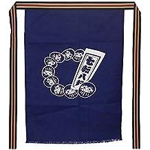 Delantal de cocina Camarero Ropa de trabajo Delantal de estilo japonés Delantal de tienda de sushi Azul [A]