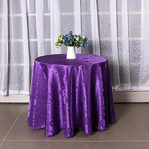 Taboeoe Nappe En Tissu Dacron Figuré De L'Hôtel Hôtel Carré Violet Nappe 1.2*1,8 Mètres