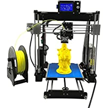 UNICUBIC U1 impresora 3D de alta precisión, Prusa i3 DIY Unassembled kit de impresora 3D, tamaño de impresión 210 * 210 * 225mm, libre 0,25 kilogramos Filamento libre, 12 meses de garantía