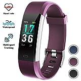 ITSHINY Montre Connectée Etanche IP68 Bracelet Connectée Smartwatch GPS Unisexe - Violet