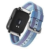 SAMSUNG Gear S3 Frontier élégante de Remplacement Band SIKAI 22mm Replactable Nato Sangle Bracelet en Nylon Tissé Bracelet de Sportive pour Garmin Fenix5 en Quick Release Strap (Lac Bleu)