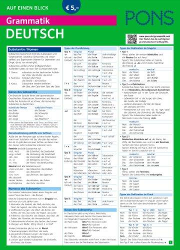 Preisvergleich Produktbild PONS Grammatik auf einen Blick Deutsch: Alle wichtigen grammatischen Themen auf einen Blick (PONS Auf einen Blick)