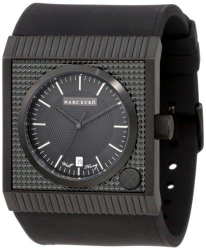 Marc Ecko Herren Datum klassisch Quarz Uhr mit Silikon Armband E14544G1 (Ecko Uhr)