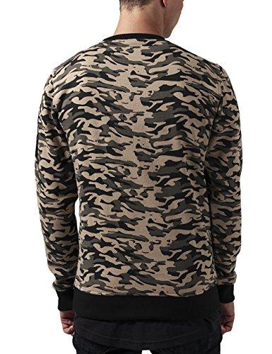 Urban Classics Herren Sweatshirt Sweat Camo Bomber Crew Mehrfarbig (wood camo 396)