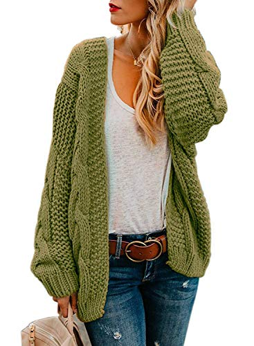 Aranmei Strickjacke Damen Grobstrick Strickmantel Strickcardigan Damen Herbst Winter Casual Open Front Sweater Cardigan
