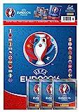Panini 909950 - Sammelsticker UEFA Euro 2016 Starterset Hardcover Album und 3 Booster, bunt