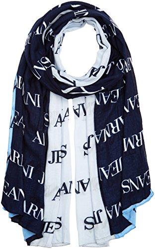 Armani Jeans Damen Schal, Mehrfarbig (Blue/Azzurro/Ghiaccio 10736), One Size