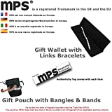 MPS® EUROPE Classic Titanium Magnetic Bracelet with Fold-Over Clasp, Powerful 3,000 gauss Magnets + Free Gift Wallet + FREE Links Removal Tool Bild 1