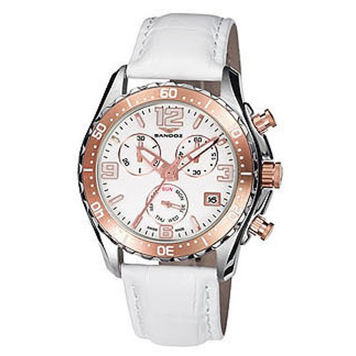 Montre Sandoz The Race 81292-90 Femme Blanc