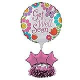 Creative Converting Get Well Soon Balloon Centerpiece Kit, Flowers and Butterflie