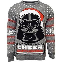 STAR WARS Official Darth Vader Christmas Jumper/Ugly Sweater (UK 2XL/US XL)