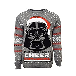 Star Wars Official Darth Vader Christmas Jumper/Ugly Sweater UK 4XL/US 3XL