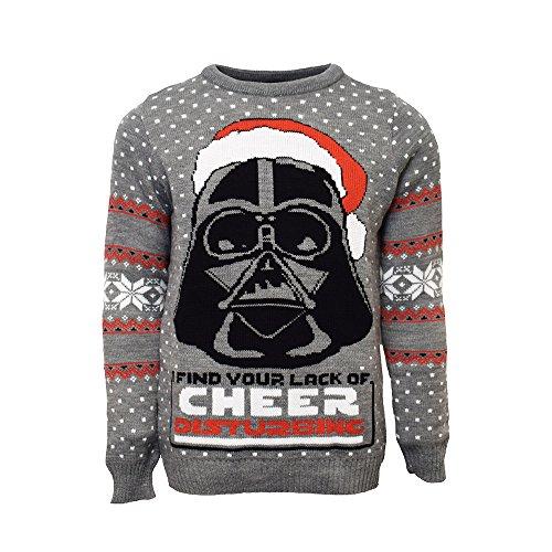 4x Sweatshirt (Darth Vader Offiziell Star Wars Weihnachtsstrickjacke / Sweater (4X Large))