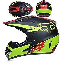 CFYBAO Motocross Casco Gafas De Regalo Máscara Guantes Fox Moto Racing Casco Facial Completo para Hombre