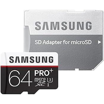 Samsung MicroSD - Tarjeta de Memoria de 64 GB (Class 10, UHS-I), Negro/Rojo/Blanco
