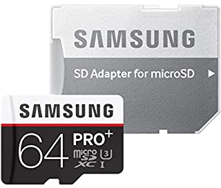 Samsung Speicherkarte MicroSDXC 64GB PRO Plus UHS-I Grade U3 Class 10, für Smartphones, Tablets und Action Cams, mit SD Adapter (B00WIMBZR0) | Amazon price tracker / tracking, Amazon price history charts, Amazon price watches, Amazon price drop alerts