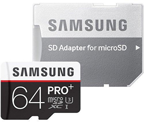 Samsung Speicherkarte MicroSDXC 64GB PRO Plus UHS-I Grade U3 Class 10, für Smartphones, Tablets und Action Cams, mit SD Adapter