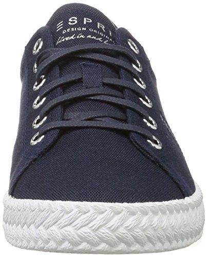 Esprit Silvana Lace Up, Sneakers basses femme Bleu (400 Navy)