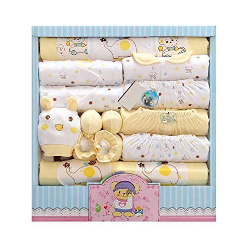 DRAULIC Baby Junge Mädchen 100 Baumwolle Neugeborene Kleidung Set für alle 4 Jahreszeiten mit Kappe Handschuhe Lätzchen Fußabdeckung Kappe