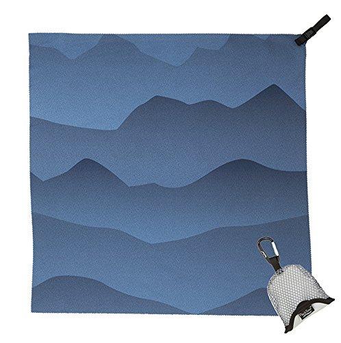 Packtowl Nano ultrakompaktes Nano-Handtuch (Blue Mountains) (Strand-handtuch-bike)