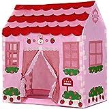 Tente d'enfant - TOOGOO(R)Maison de jeu fille ville maison enfants jardin de secret rose tente de jouer grand cadeau