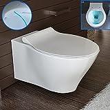Design Spülrandlos Dusch Hänge-WC Toilette -Taharet/Bidet mit WC-Sitz Rimless Wand WC