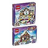 LEGO City Set en 2 parties 41322 41323 La patinoire de la station de ski + Le chalet de la station de ski...