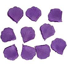 SODIAL(R) 1000Uds. Morado Petalos de Rosa en Seda Malva para Decoracion Bodas Fiestas Confeti