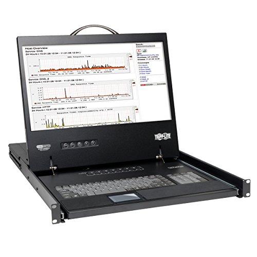 Tripp Lite 8Port netcontroller 1U Rackmount-Konsole KVM Switch mit 48,3cm LCD-Display/Tastatur/Touchpad-schwarz 16-Port -
