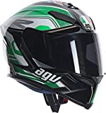 Casco integrale Agv K-5 Dimension Black White Green ML